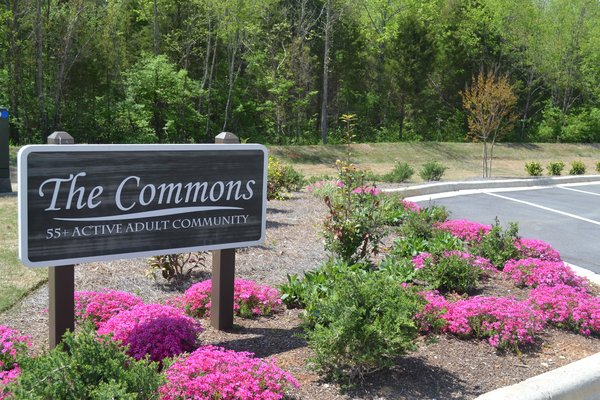 The Commons, 55+ Active Adult Community Commons Sign