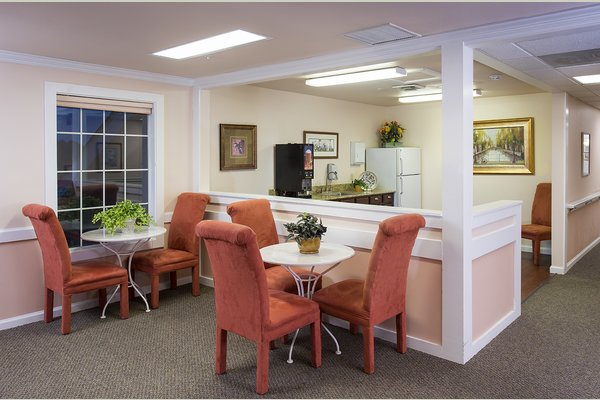 Evening meals are offered two days a week in The Bistro for residents and staff.