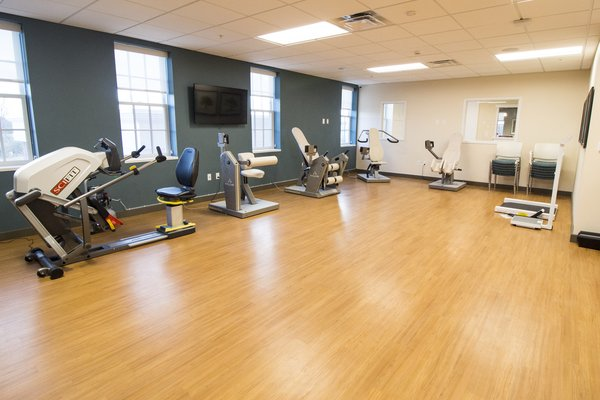 Our fitness center features HUR equipment that is special because it utilizes air resistant technology.