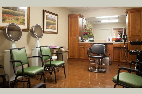 Residents can enjoy salon and spa services right on campus.